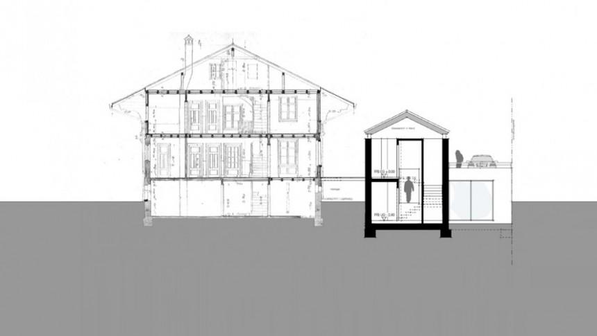 Entwurf Chalet Friedbühl (Schnitt)